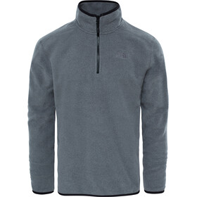 The North Face 100 Glacier Sweat-shirt avec Fermeture éclair 1/4 Homme, TNF medium grey heather